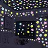 Wandtattoo Leuchtsterne Selbstklebende Fluoreszierende Aufkleber Extra starke Leuchtkraft Sterne Leuchtpunkte