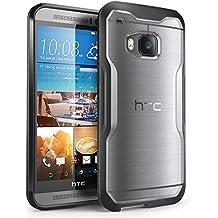 Cover per HTC One M9, SUPCASE Unicorn Beetle Serie Premium custodia ibrida protettiva trasparente per HTC One M9 , imballaggio al dettaglio (Trasparente /Nero)
