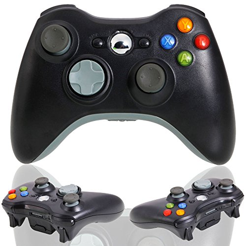 USB Wired Game Pad Joypad Fernbedienung Controller für Microsoft Xbox 360 Slim PC Schwarz (Xbox 360 Black Controller Wired)