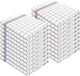 normani 10 x Geschirrhandtücher Halbleinen in Verschiedenen Ausführungen wählbar