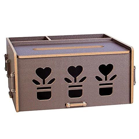 Anguang Art und Weiseschwarzes Festes hölzernes Tissue-Papierkasten das Papierkastenhaushalt Gewebekästen Pumpt Coffee