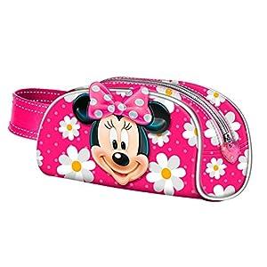 Minnie Mouse- Estuche portatodo, Color Rosa, 21 cm (Karactermanía 32718)