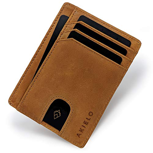 2c6996ad4 AKIELO Wallet | Minimalist Card Wallet - RFID Blocking Credit Card Holder  and Gift Box