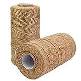 kraftz®–120M de yute Cuerda 2mm x 3capas yute Natural cordel artes manualidades materiales de embalaje de regalo Bakers Twine Durable Natural Twine