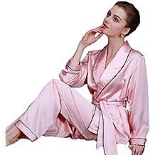 TT Global 2018 Mujer Largo Camisones Raso Satin Pijamas,Pijamas para Mujer, Pijamas Mujer