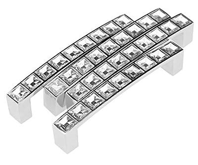 WayGo 4x Crystal Cabinet Pull Handle Bar Drawer Cabinet Door Handle (96mm) - inexpensive UK light store.