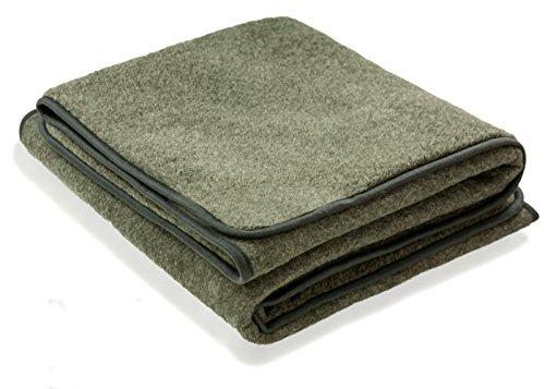 Schurwolle 100% Merino Wolldecke Decke Wohndecke Bettdecke Tagesdecke Wolle (ca. 180 x 200 cm, Grau)