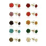 Nisa Pearls Coral Stud Earring For Women...