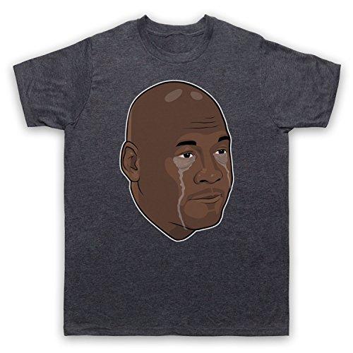 Inspiriert durch Crying Jordan Michael Jordan Face Meme Inoffiziell Herren T-Shirt Jahrgang Schiefer