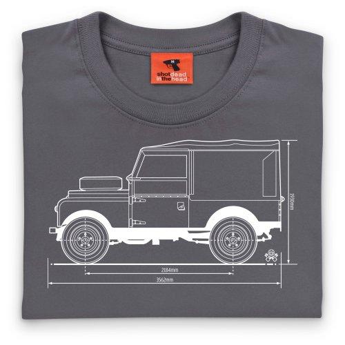 PistonHeads 1947 Landie T-Shirt, Damen Anthrazit