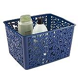 mDesign panier de rangement en plastique – pour cuisine, salle de bain, bureau & Cie. – boîte de rangement idéal pour stocker les objets divers – ample d'espace de stockage