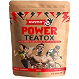#7: Kayos Power Teatox - Testosterone Boosting Detox Green Tea for Runner, Cyclists and Athletes for Weight Loss, Energy & Endurance with Hibiscus, Rooibos, White Musli, Shilajit, Ashwagandha - 50g
