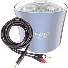 DURAGADGET Excelente Cable De Audio Minijack / RCA Para Altavoz Portátil Aukey SK-M8 / TaoTronics TT-SK06Es / Tronsmart-T1 / YOZATIA / Anker A3143011 - Bañado En Oro