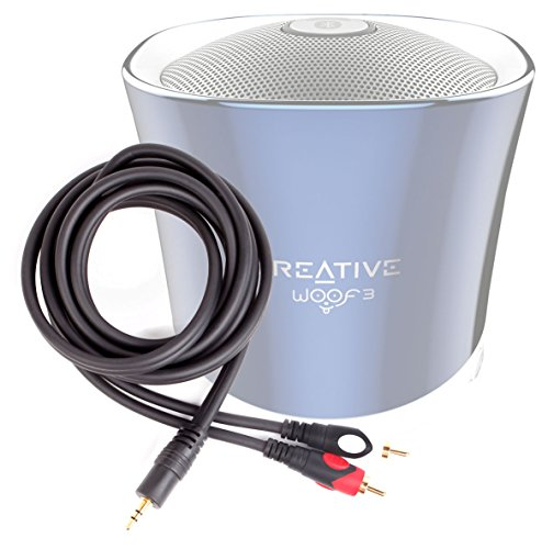 DURAGADGET Excelente Cable De Audio Minijack / RCA Para Altavoz Portátil Aukey SK-M8 / TaoTronics TT-SK06Es / Tronsmart-T1 / YOZATIA / Anker A3143011 / Esonstyle - Bañado En Oro