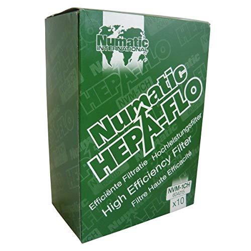 Numatic 604015 Staubsaugerbeutel Hepa-Flo NVM-1CH / Vlies-Filterbeutel geeignet für Henry, Hetty James, Junior, Harry, u.a. Numatic Staubsauger