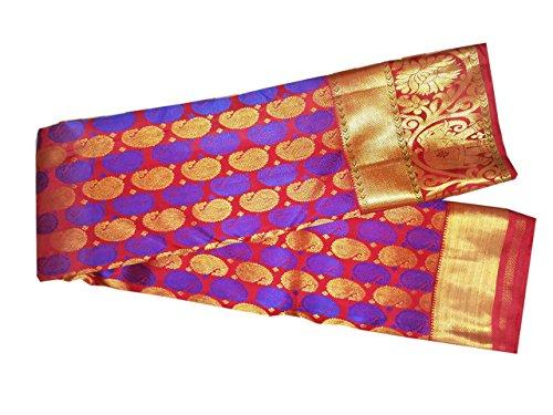 Sreenivasa Sarees:Pure Silk Pink And Blue Color Hand Woven Saree (pure pattu...