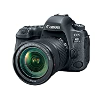 Canon EOS 6D Mark II 24-105mm f/3.5-5.6 IS STM Lens, 26.2 MP DSLR Camera, Black