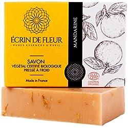 Jabón orgánico de caléndula y mandarina (100 gr)
