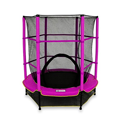 We R Sports - Kinder-Trampolin mit Sicherheitsnetz, My First Trampoline, Rose