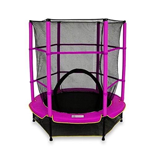 WE R Sports Trampolin mit Sicherheitsnetz Kinder, My first trampoline, Rose
