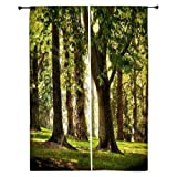 Snoogg Huge Tree Polyester Drapes Blackout Curtains 30