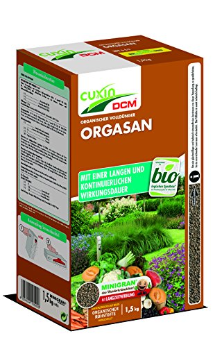 Cuxin BIO Naturdünger mit 3 Monaten Langzeitwirkung | Gemüsedünger | Orgasan ideal für Gemüse | 1,5kg | NPK 6-6-9