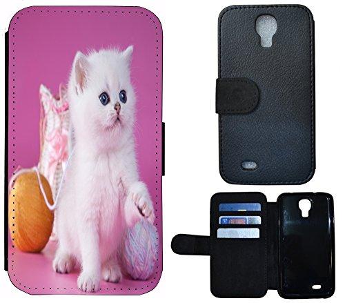 Étui à coque rabattable pour téléphone portable , Tissu Plastique Cuir, 1107 Eifelturm Paris Frankreich Rot Grau, Apple iPhone 4 / 4s 1108 Katze Kätzchen Weiß Lila