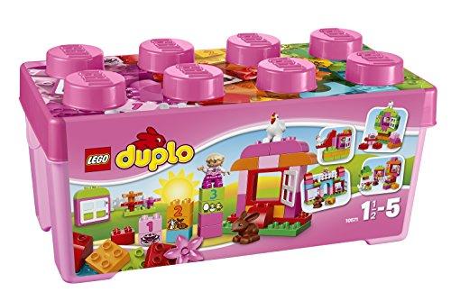 """LEGO DUPLO - Caja Rosa de diversión """"Todo en Uno"""", multicolor (10"""