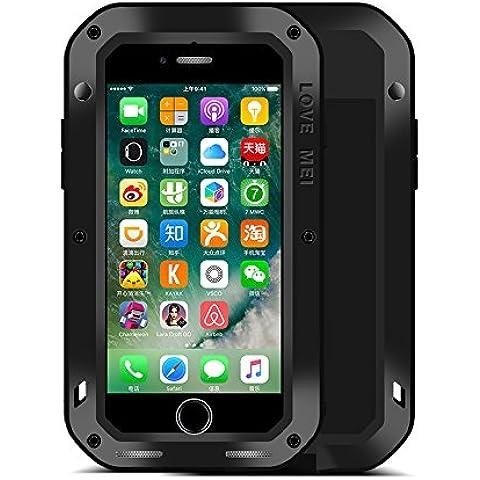 iPhone 7 Funda : Fonrest Love mei Poderosa armadura del metal de aluminio a prueba de golpes Gorilla Glass Snowproof Cubierta Carcasa Hermética al polvo para el iPhone 7 (iPhone 7,