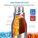 Landnics Water Bottle, Stainless Steel Water Bottle Vacuum Double Wall Insulated Bottle 12 Hrs Hot, 24 Hrs Cold Sports Water Bottles for Running, Camping, Hiking, Cycling, Gym, BPA Free, 25oz/ 720ml