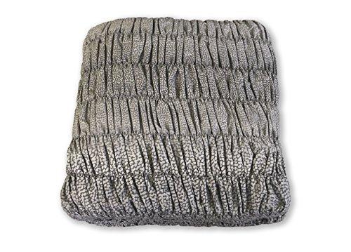 Biancheriaweb copridivano angolare universale arricciato maculato grigio angolare maculato grigio