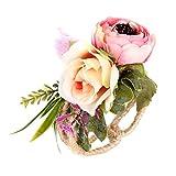 Dorical Simulation Rose Armband Blume Damen-Armband mit Blume, Kunststoff, Kunstharz, für Abschlussball, Abschlussball, Hochzeit, 1 Stück, Rose, 7cm
