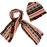 Phenovo Multi-purpose Scarf Hat Warm Beanie Hat Wide Winter Scarf Set Multi-Color 01