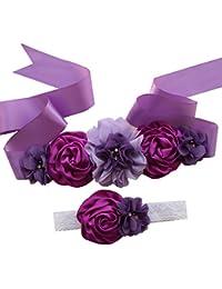 DecoracióN De La Boda del CinturóN De Flores De Seda De SatéN para Mujer  Rose Retro d0197d2cda3b