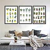 wlwhaoo Moderne Minimalistische Grünpflanzen Kaktus