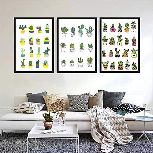 Wlwhaoo Moderno Minimalista Plantas Verdes Cactus