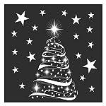 Star Sapin de Noël Film autocollant décoratif pour fenêtre Décors Par Stickers4