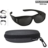 81cb2d059bb Polarized Wear Over Sunglasses - Cover For Regular Eye Glasses and  Prescription Glasses To Reduce Glare