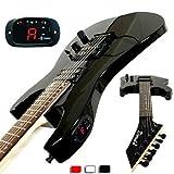 Derulo - (Thunder Blade) stratocaster guitare électrique avec un sac / ceinture / pics / câble / whammy bar / batterie,Black