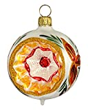 Jingle Bells Lauscha Christbaumkugel Christstern, Reflexkugel 6cm, 4Stck. per Box