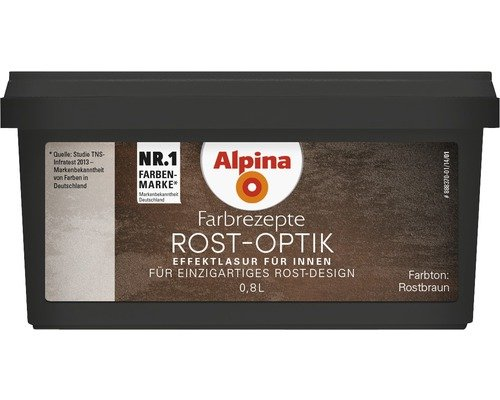 Preisvergleich Produktbild Alpina Farbrezepte Rostoptik bis 10m² Set Rost Optik Kreativ Effekt Rostfarbe