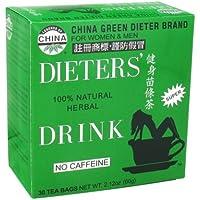 Zio Lee China tè verde Caffeina Dietisti Free - 30 bustine di tè - Caffeina Erbe Caffè