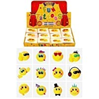 Henbrandt 12 x Childrens Kids Temporary Tattoos Transfers Toys Party Loot bag Fillers Smiley Faces
