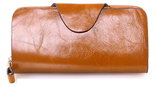 - 51RA1FtnsaL - Greeniris Ladies Leather Wallet Purse Camel