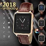 Bluetooth Smartwatch, Bluetooth Uhr Intelligente mit Kamera Touchscreen Telefon mit SIM Kartenslot Smart Armband Uhren Fitness Tracker Armbanduhr Kompatible für iPhone Android Samsung Huawei