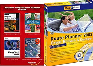 Route Planner Britain & Europe 2003 & FREE Home Software Value Pack