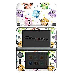DeinDesign Skin kompatibel mit Nintendo New 3DS XL Folie Sticker Kinder Eule Muster