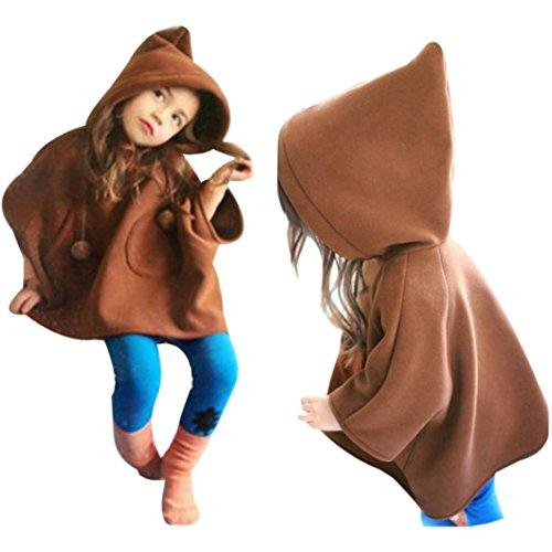 Culater® Bambini Ragazze incappucciato cappotto caldo del vento Giacche Outfits Coat (110)