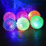 Transer® Pet Rubber Ball, Lighting, Hedgehog Bell Sound, Puppy Dog Cat Fun Play Toy