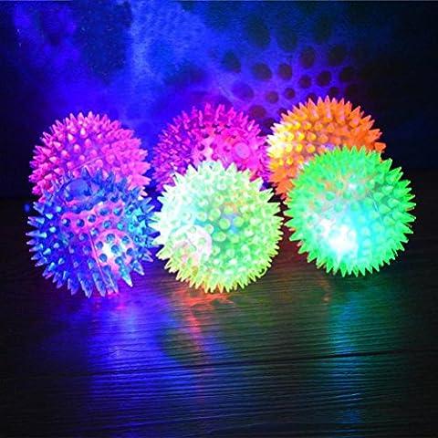 Transer® Pet Rubber Ball, Lighting, Hedgehog Bell Sound, Puppy Dog
